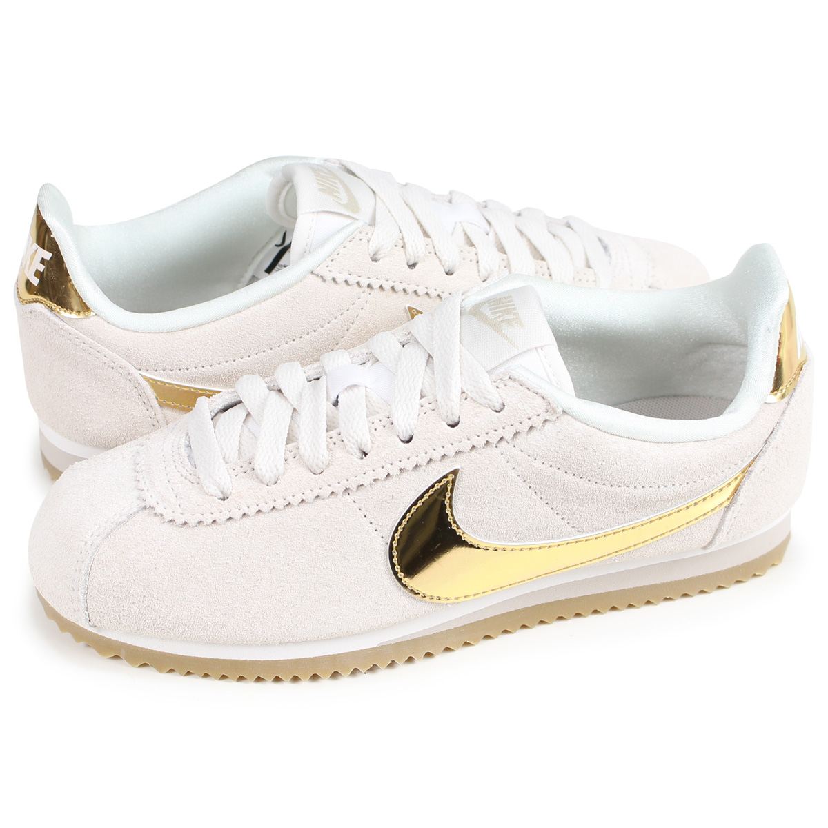 newest collection c74e2 86684 NIKE WMNS CLASSIC CORTEZ SE ナイキコルテッツクラシックレディーススニーカー 902,856-013 beige [load  planned Shinnyu load in reservation product 9/11 containing]
