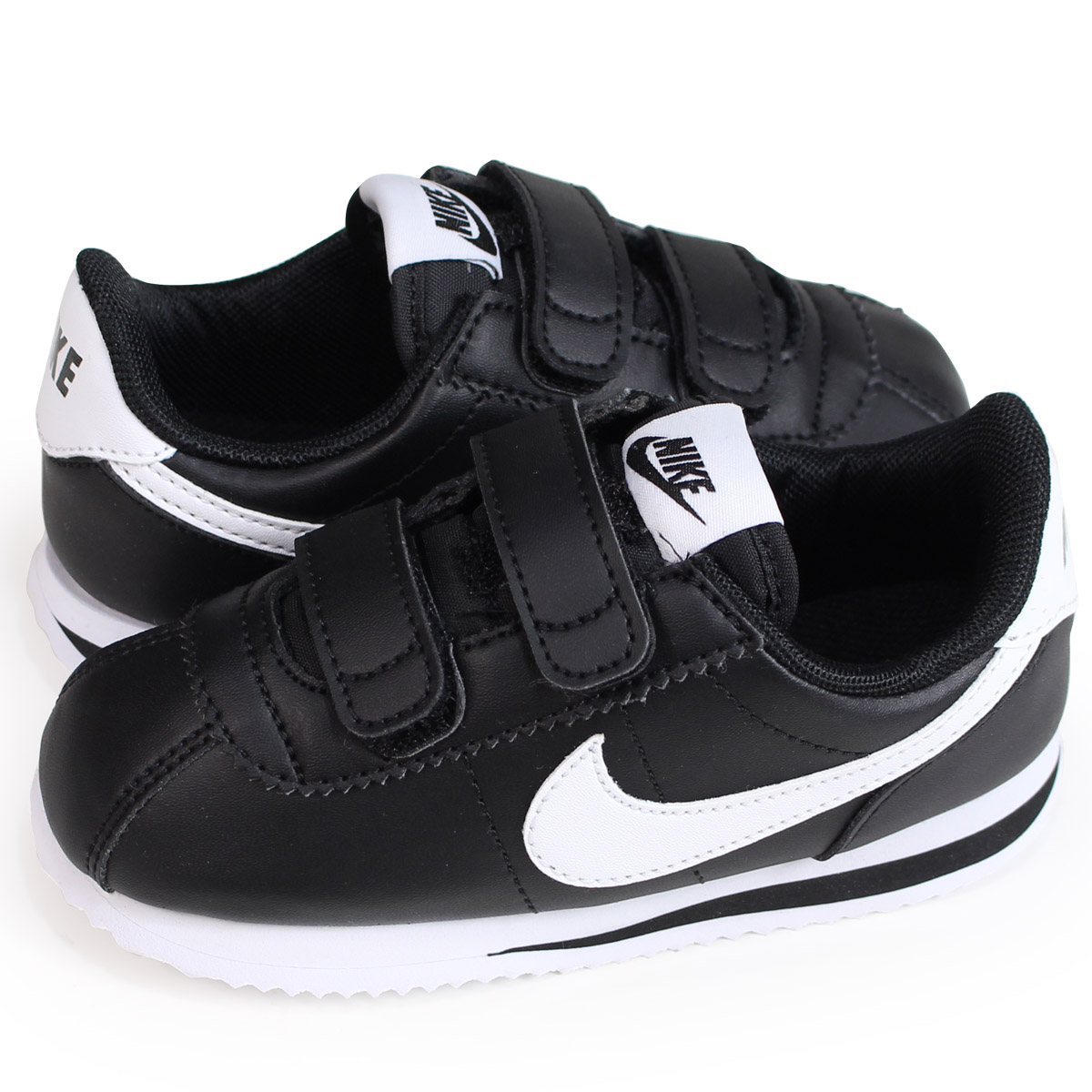 wholesale dealer 9c0ec a190c NIKE CORTEZ BASIC SL TDV ナイキコルテッツベビースニーカー 904,769-001 black [load planned  Shinnyu load in reservation product 7/20 containing]