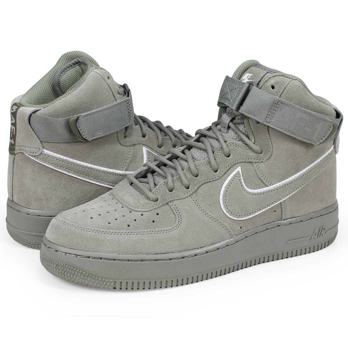 buy online 5a293 92ebe NIKE AIR FORCE 1 HIGH 07 LV8 Nike air force 1 high sneakers men AA1118-002  green [load planned Shinnyu load in reservation product 6/29 containing]