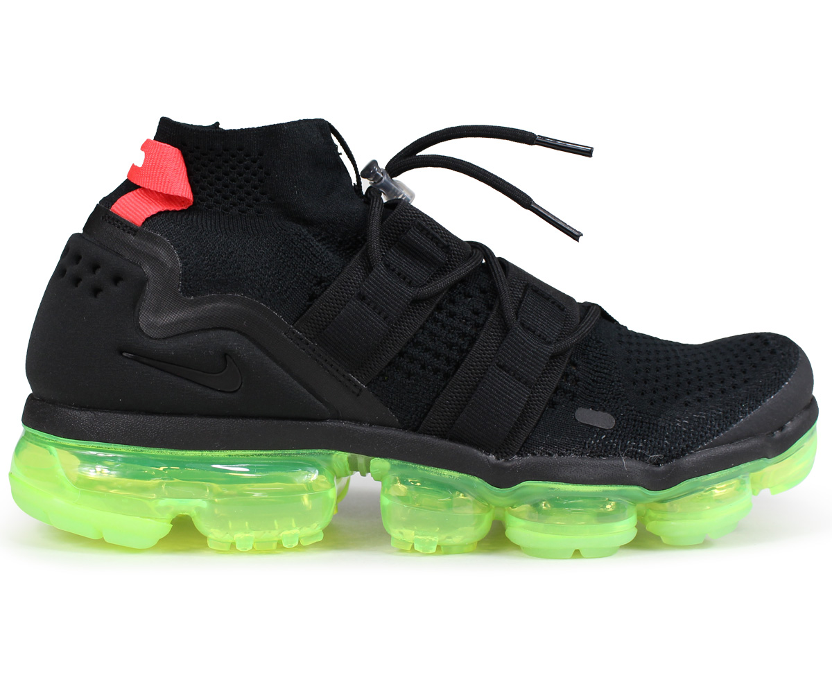 NIKE AIR VAPORMAX FLYKNIT UTILITY Nike air vapor max fried food knit sneakers men AH6834 007 black [load planned Shinnyu load in reservation product