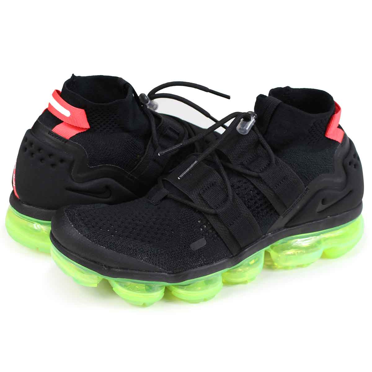 newest 2e234 eaae4 NIKE AIR VAPORMAX FLYKNIT UTILITY Nike air vapor max fried food knit  sneakers men AH6834-007 black [load planned Shinnyu load in reservation  product ...