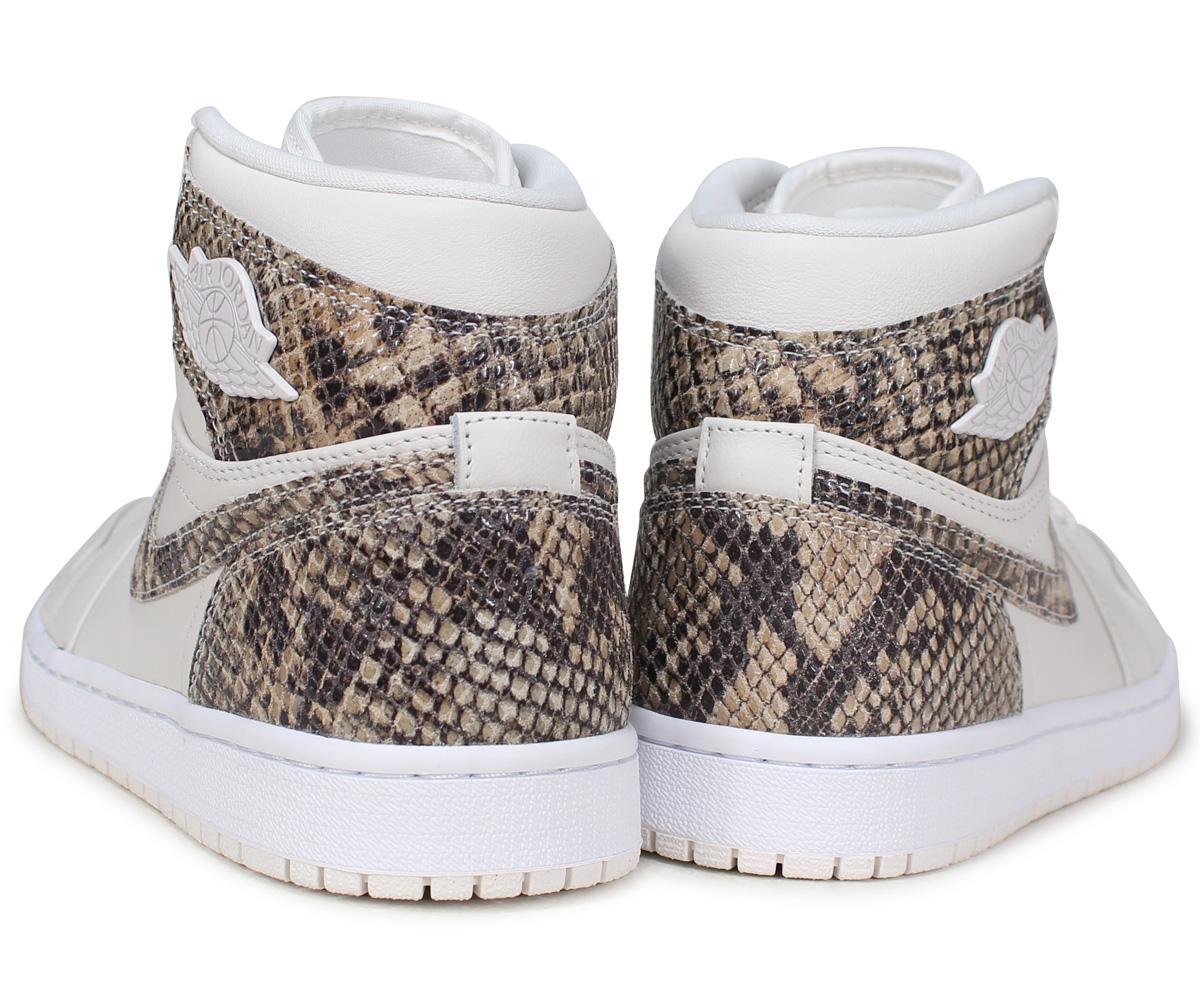 NIKE WMNS AIR JORDAN 1 RETRO HIGH PREMIUM Nike Air Jordan 1 nostalgic Haile  Dis men sneakers AH7389-004 white  7 13 Shinnyu load  0eada552d