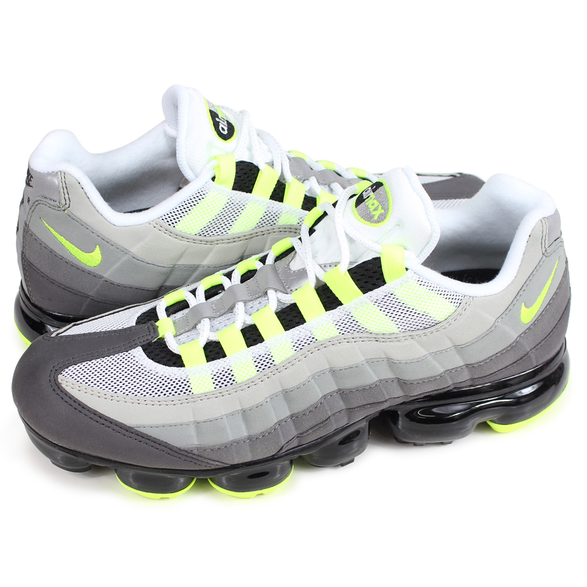59630b49c78 NIKE AIR VAPORMAX 95 NEON Nike air vapor max 95 sneakers men AJ7292-001 neon  yellow  load planned Shinnyu load in reservation product 8 20 containing