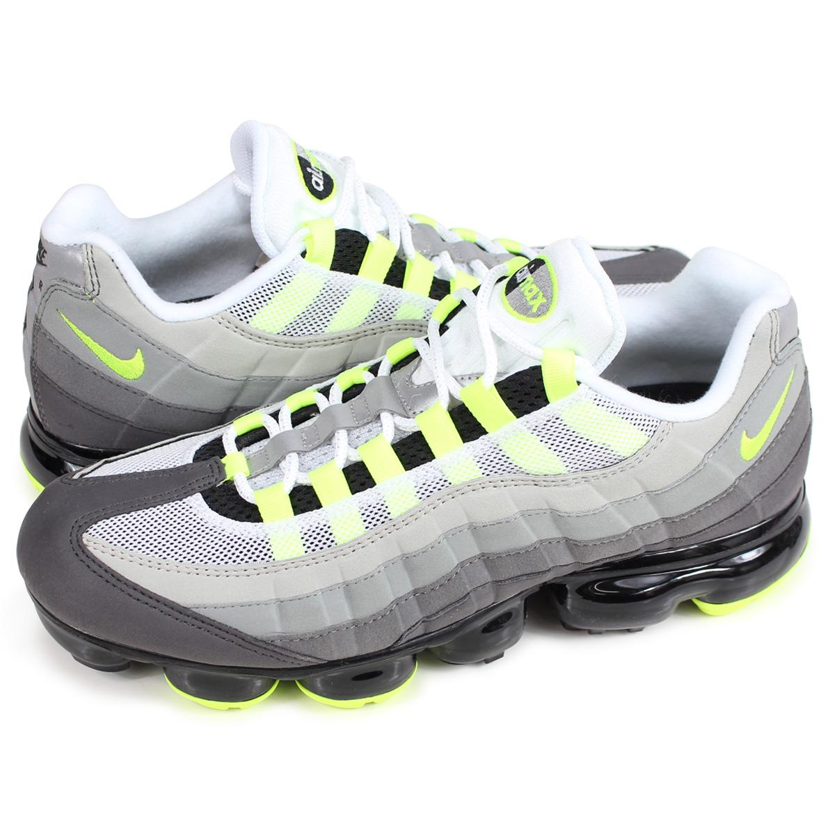 5fc71494baf ... real nike air vapormax 95 neon nike air vapor max 95 sneakers men  aj7292 001 neon