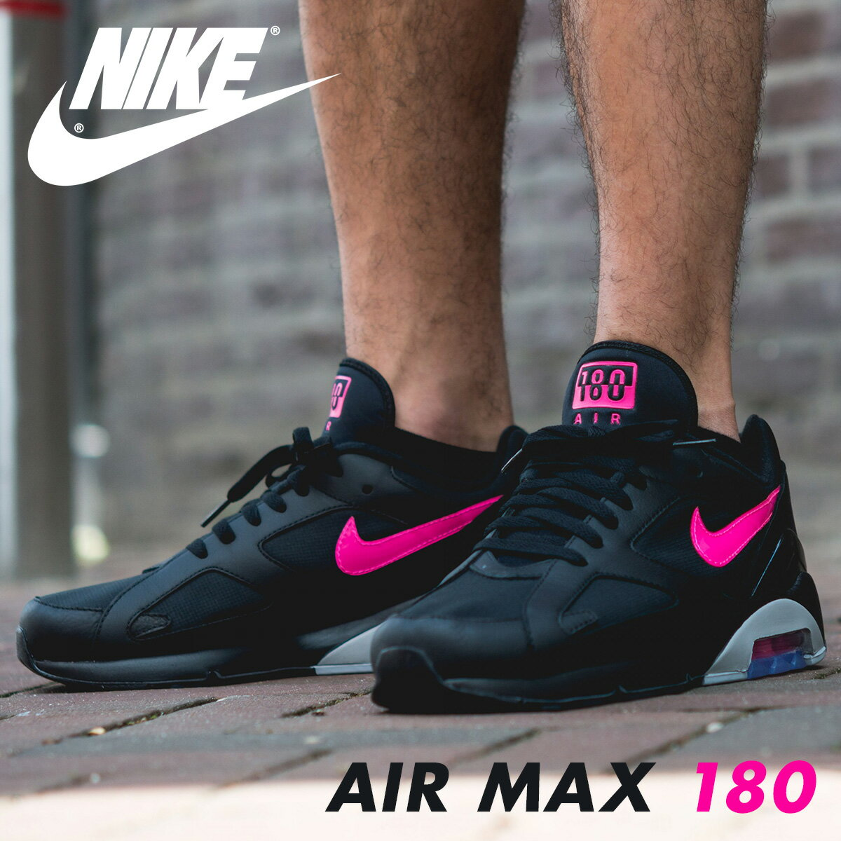 brand new f76da c5950 NIKE AIR MAX 180 Kie Ney AMAX 180 sneakers men AQ9974-001 black load  planned Shinnyu load in reservation product 81 containing
