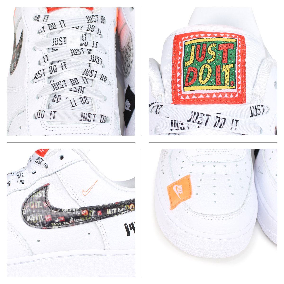 fa26b3dc22b9 NIKE AIR FORCE 1 07 PREMIUM JUST DO IT Nike air force 1 sneakers men AR7719-100  white  load planned Shinnyu load in reservation product 7 27 containing