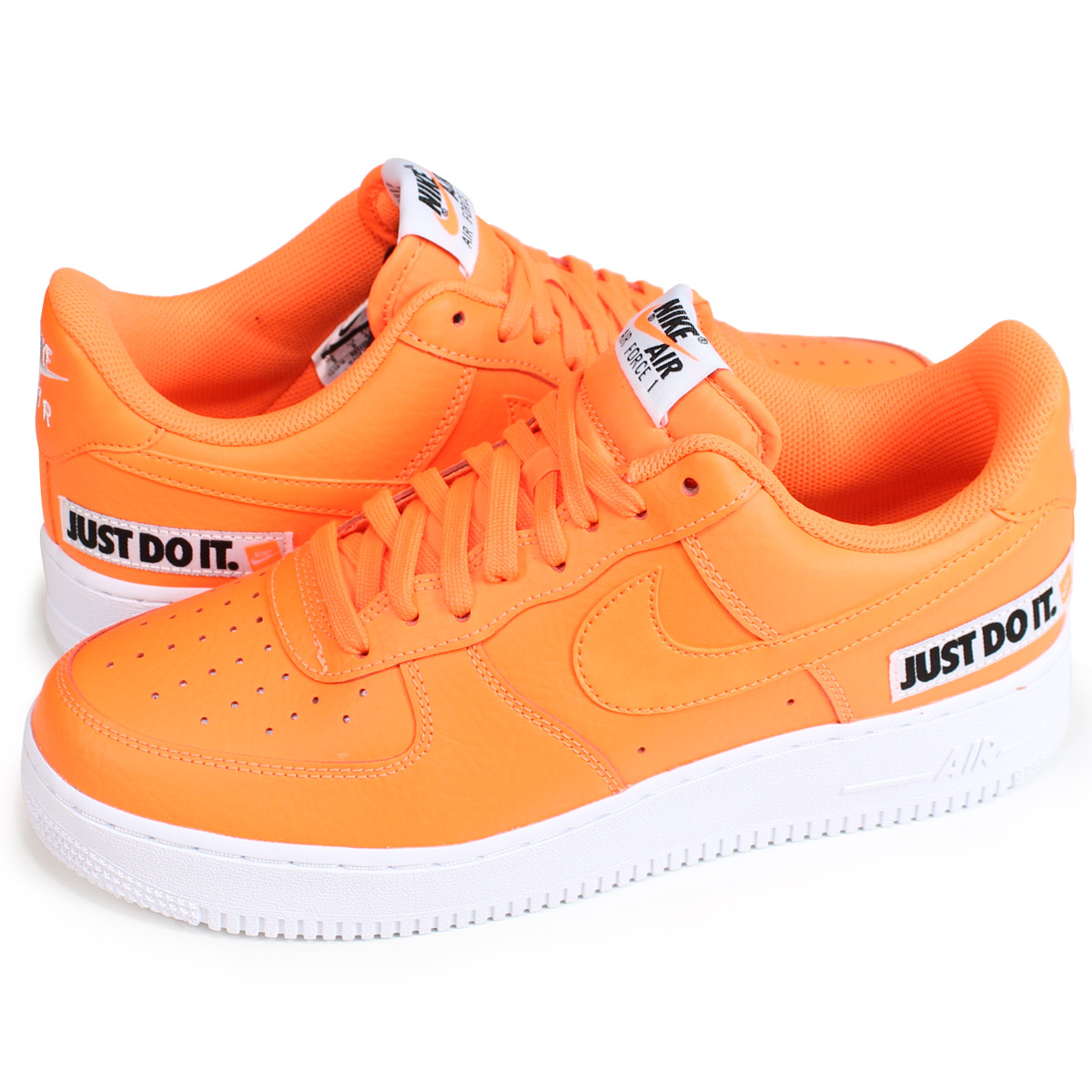 acead33b8f00aa NIKE AIR FORCE 1 07 LV8 JUST DO IT LEATHER Nike air force 1 sneakers men  gap Dis BQ5360-800 orange  load planned Shinnyu load in reservation product  7 24 ...