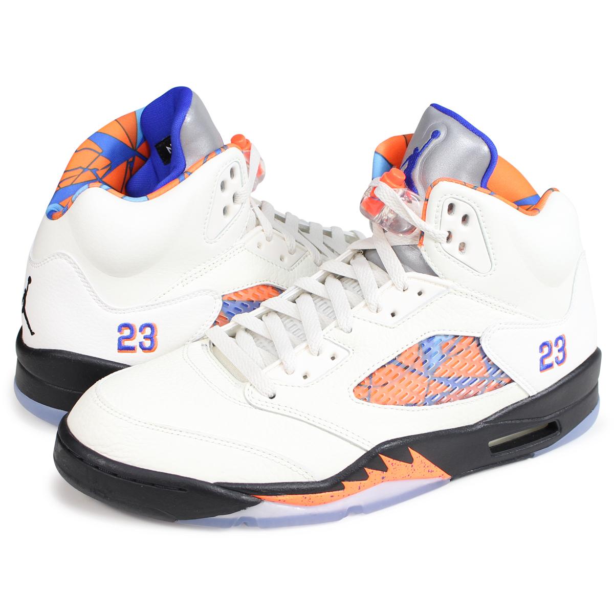 buy popular 9f259 d717e NIKE AIR JORDAN 5 RETRO Nike Air Jordan 5 nostalgic sneakers men  136,027-148 white ...