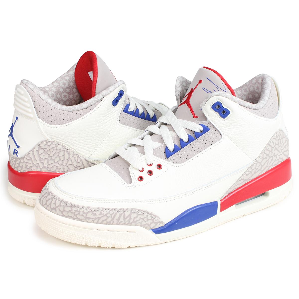 wholesale dealer d5e84 0e032 NIKE AIR JORDAN 3 RETRO Nike Air Jordan 3 nostalgic sneakers men 36,064-140  white  load planned Shinnyu load in reservation product 9 10 containing