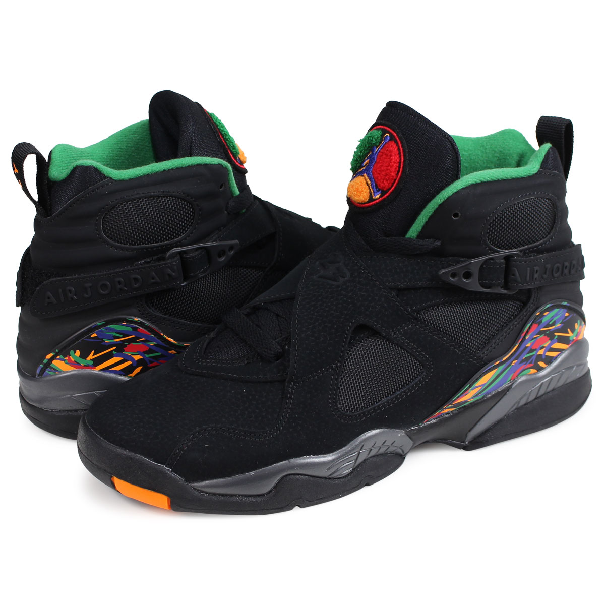 the best attitude 14e97 c4b17 Nike NIKE Air Jordan 8 nostalgic lady's sneakers AIR JORDAN 8 RETRO GS  305,368-004 black [load planned Shinnyu load in reservation product 1/5 ...