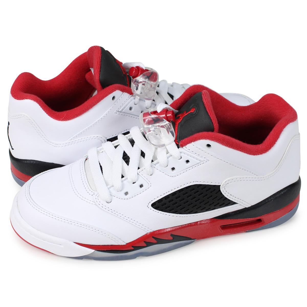 sale retailer 655a8 44bef Nike NIKE Air Jordan 5 nostalgic lady's sneakers AIR JORDAN 5 RETRO LOW GS  FIRE RED ...