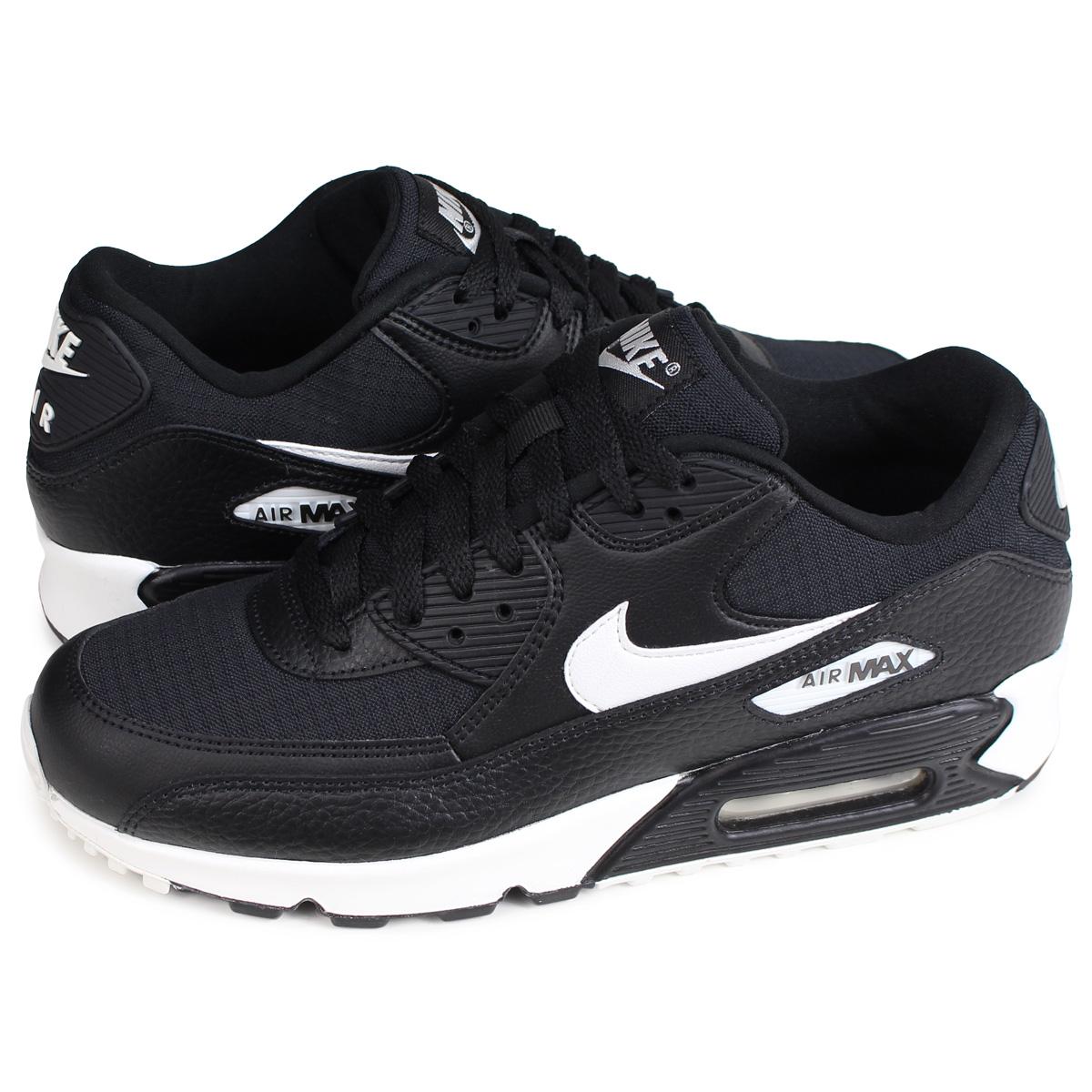 Unisex Nike Air Max 90 Essential 325213 060 Alle Schwarz Weiß