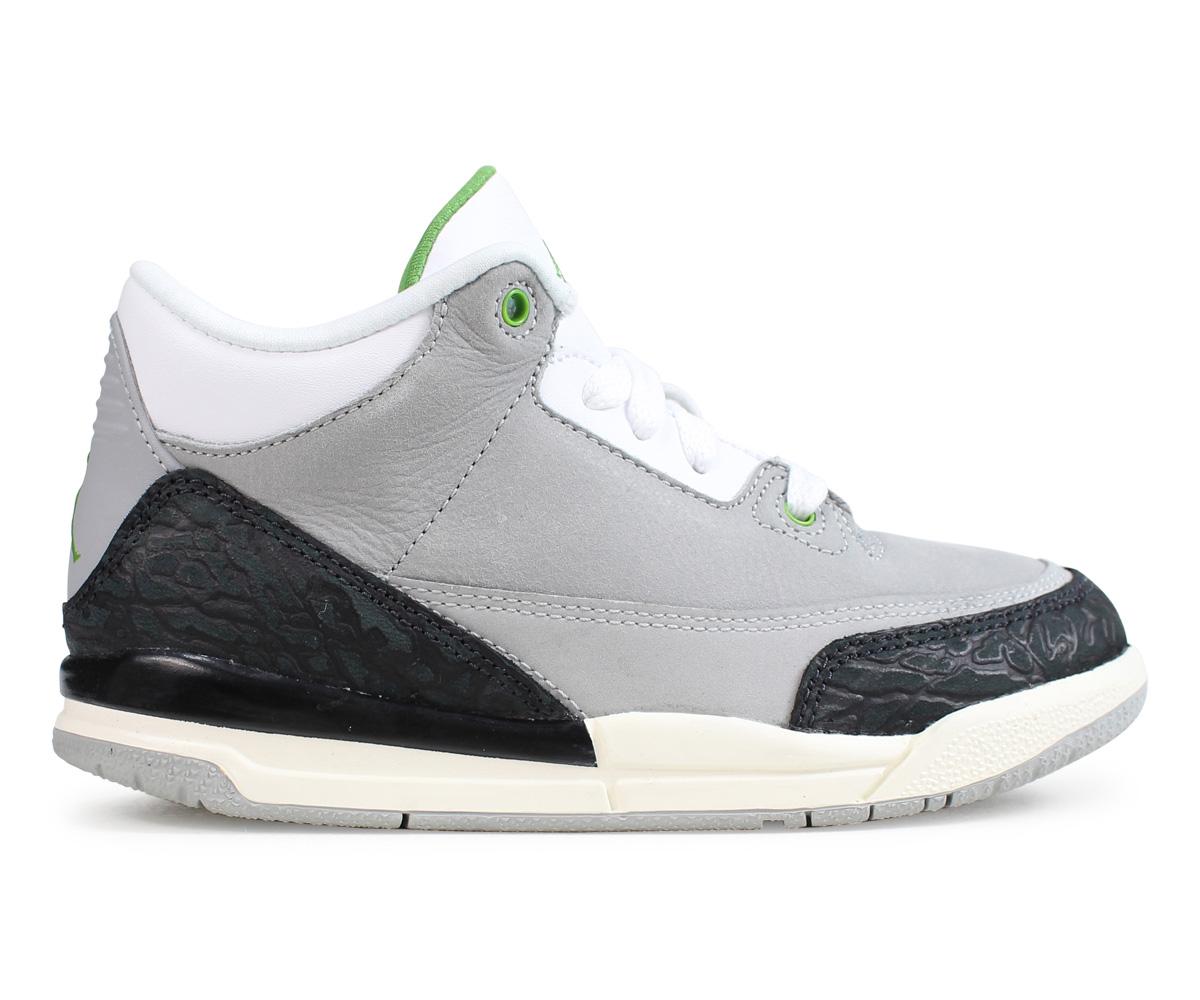 pretty nice 3a1ae b3c38 Nike NIKE Air Jordan 3 nostalgic kids sneakers AIR JORDAN 3 RETRO PS gray  429,487-006