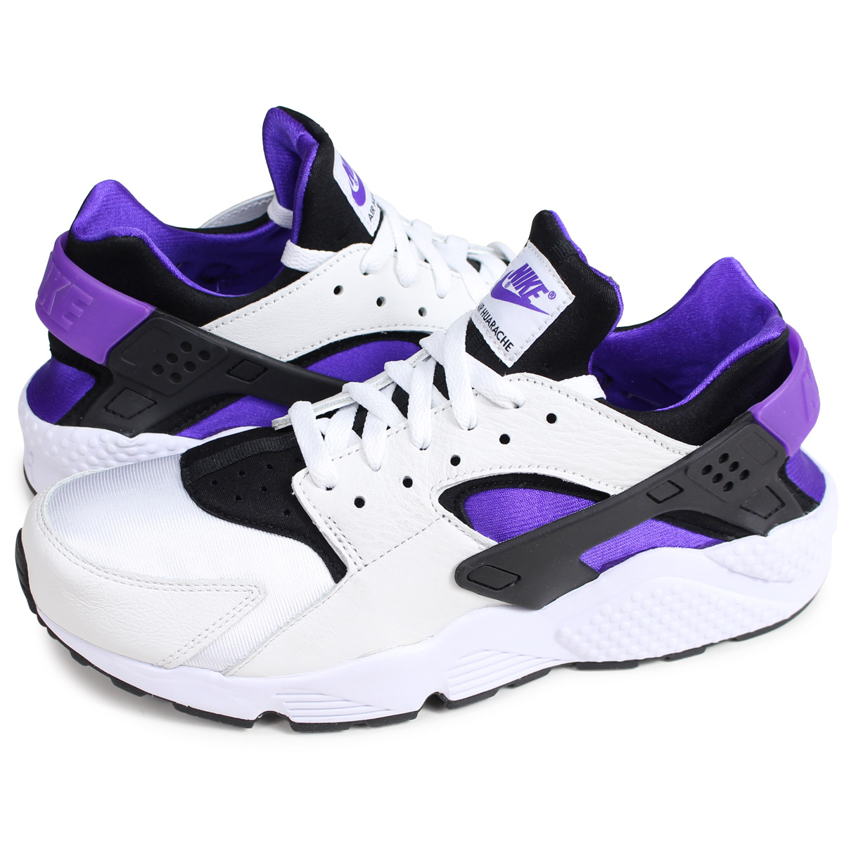 51ae90632924e Nike NIKE エアハラチランスニーカーメンズ AIR HUARACHE RUN 91 QS white AH8049-001  2 27  Shinnyu load