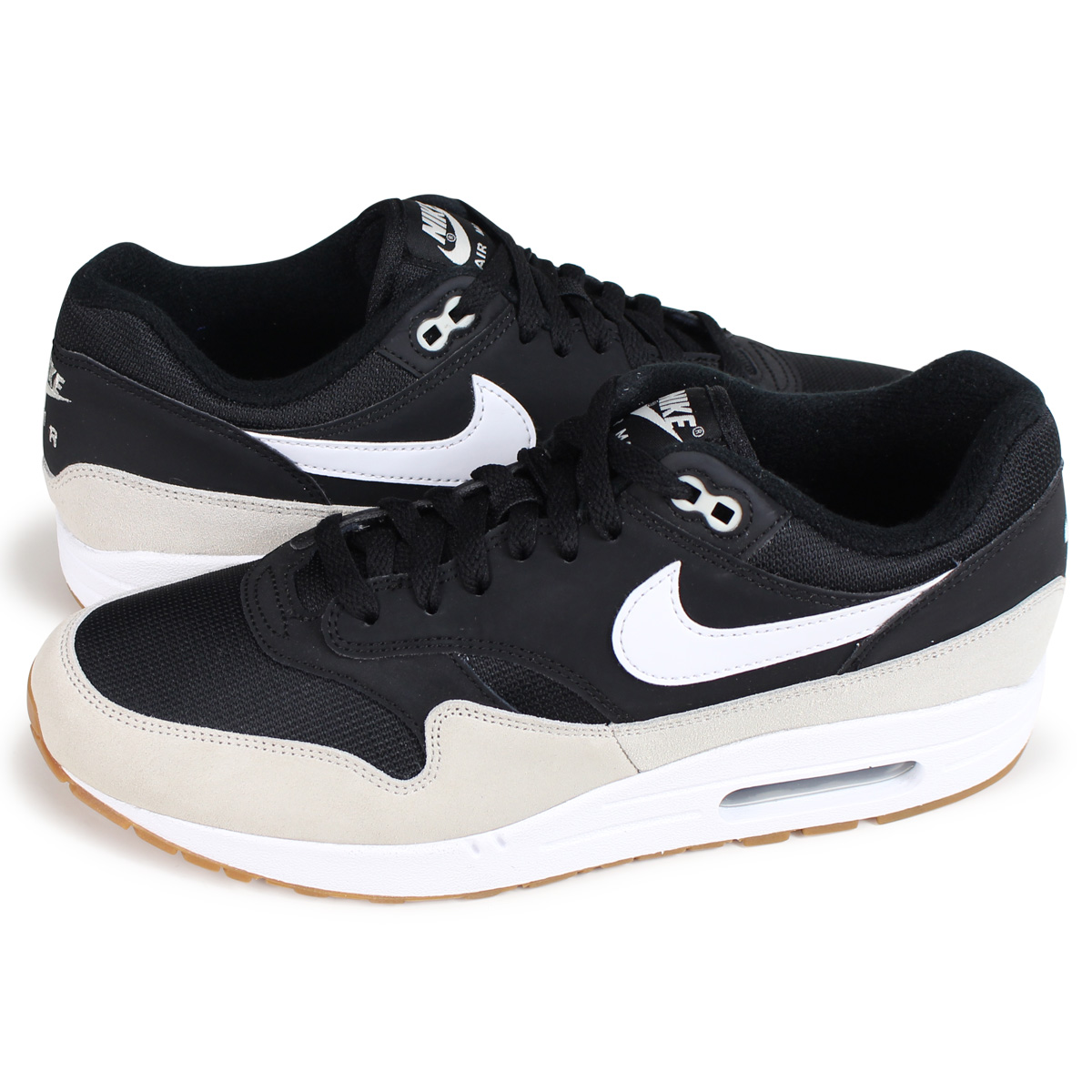 NIKE AIR MAX 1 Kie Ney AMAX 1 sneakers men AH8145 009 black [load planned Shinnyu load in reservation product 1022 containing]