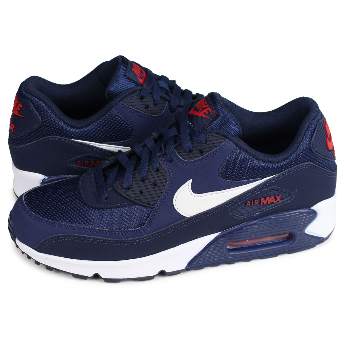 7287f399d18 Nike NIKE Air Max 90 essential sneakers men AIR MAX 90 ESSENTIAL navy AJ1285 -403  load planned Shinnyu load in reservation product 1 30 containing