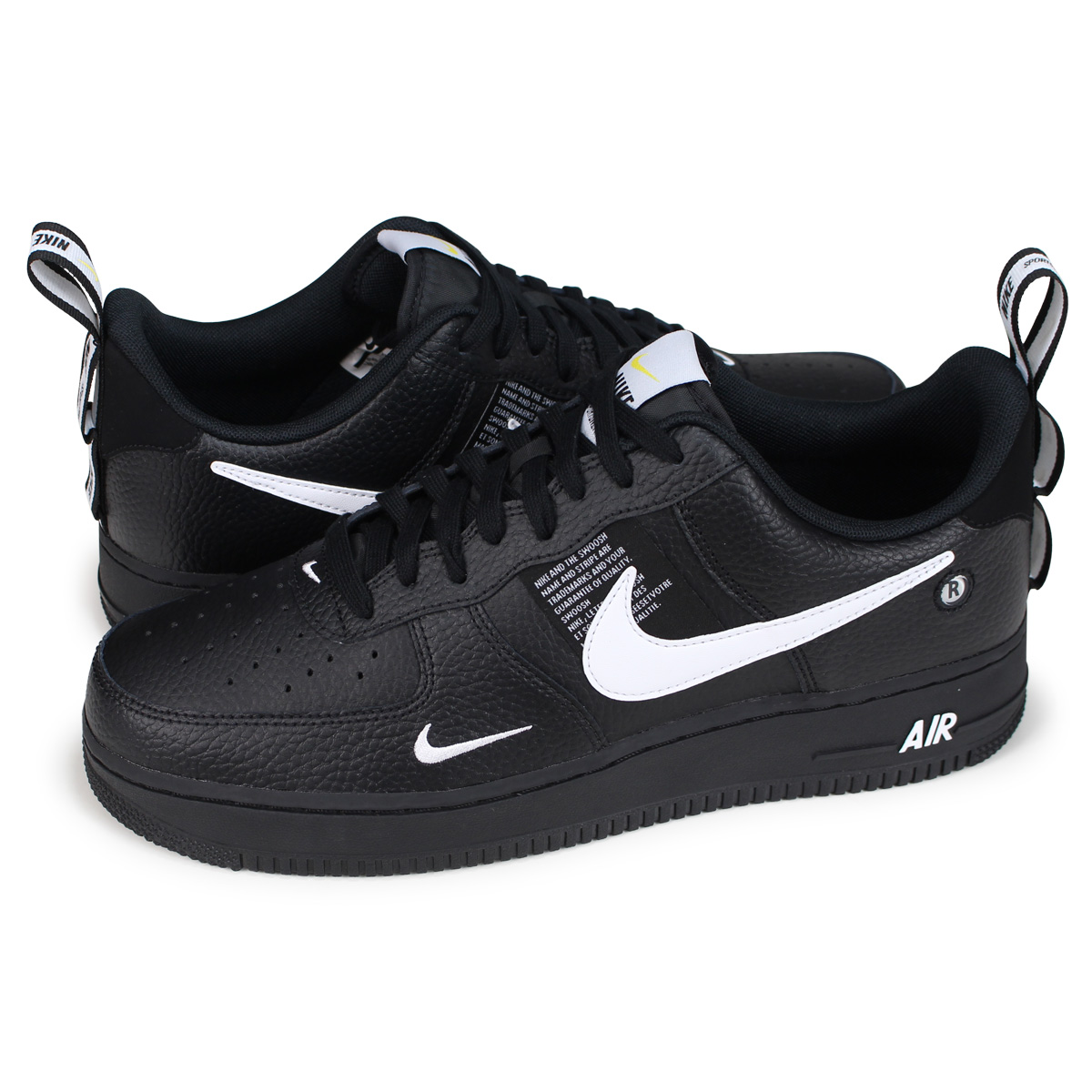 NIKE AIR FORCE 1 07 LV8 UTILITY Nike air force 1 sneakers men AJ7747 001 black [load planned Shinnyu load in reservation product 1015 containing]