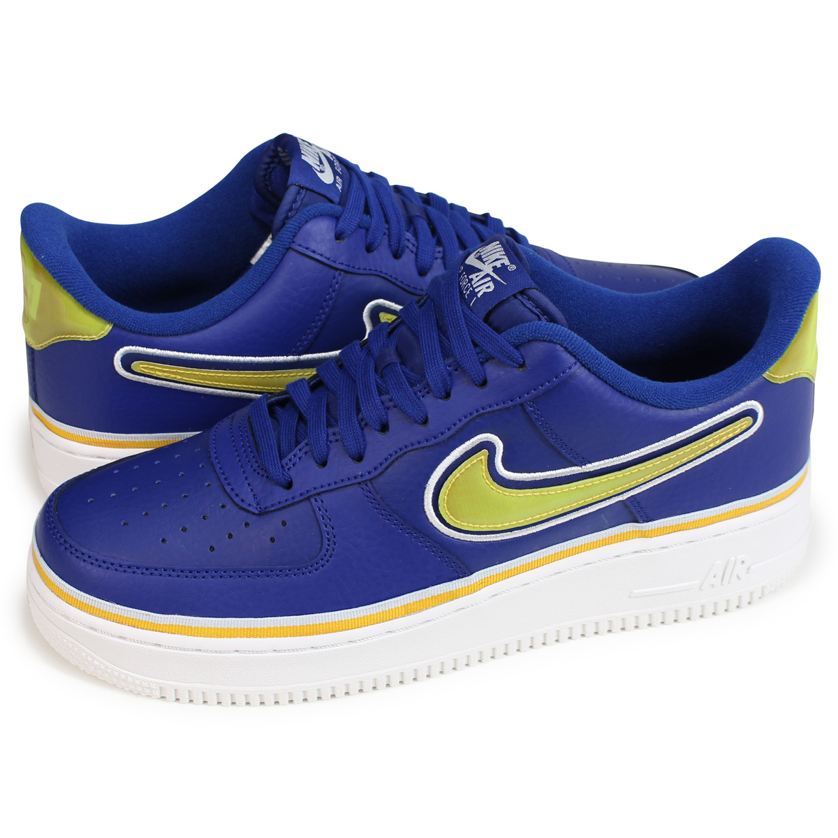 Nike Air Force 1 '07 LV8 Sport NBA DEEP ROYALOFF WHITEUNIVERSITY GOLD
