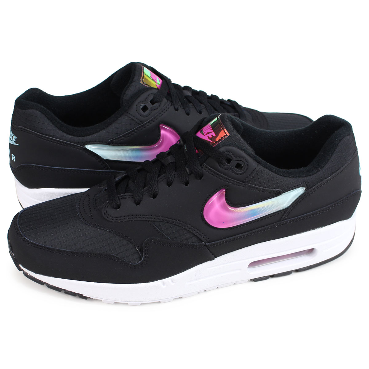 Nike NIKE Air Max 1 sneakers men AIR MAX 1 SE black AO1021 003 [load planned Shinnyu load in reservation product 122 containing]