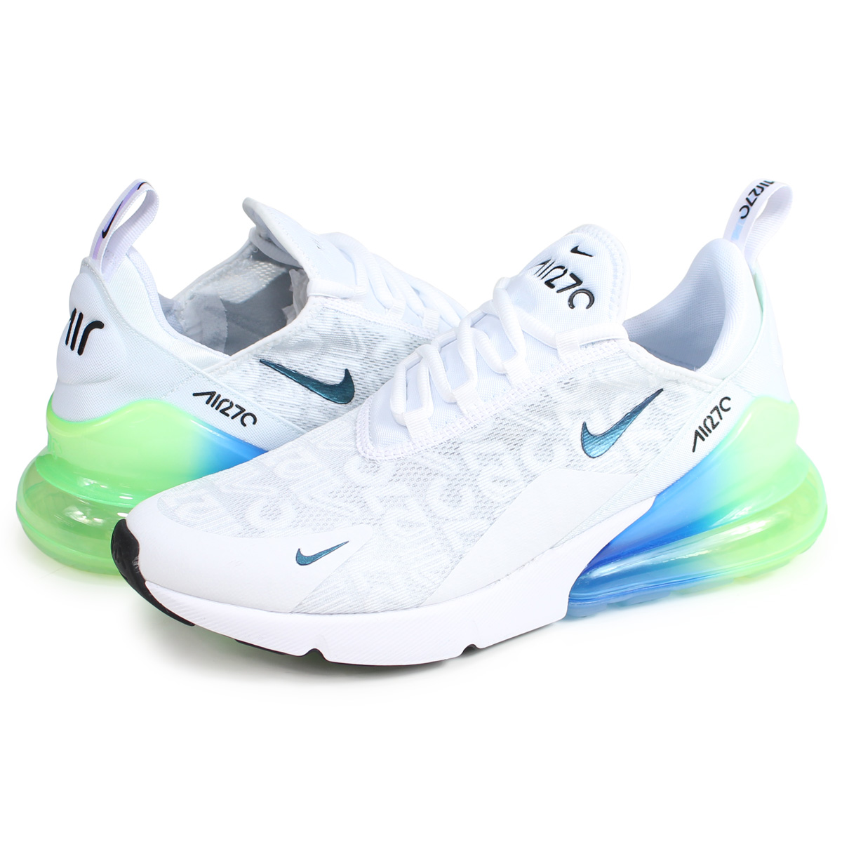 Nike NIKE Air Max 270 sneakers men AIR MAX 270 SE white AQ9164 100 [load planned Shinnyu load in reservation product 214 containing]