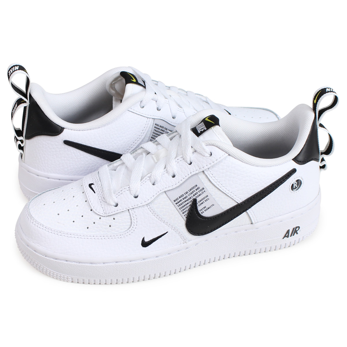 Nike NIKE air force 1 lady's sneakers AIR FORCE 1 LV8 UTILITY GS white AR1708 100 [load planned Shinnyu load in reservation product 1210 containing]