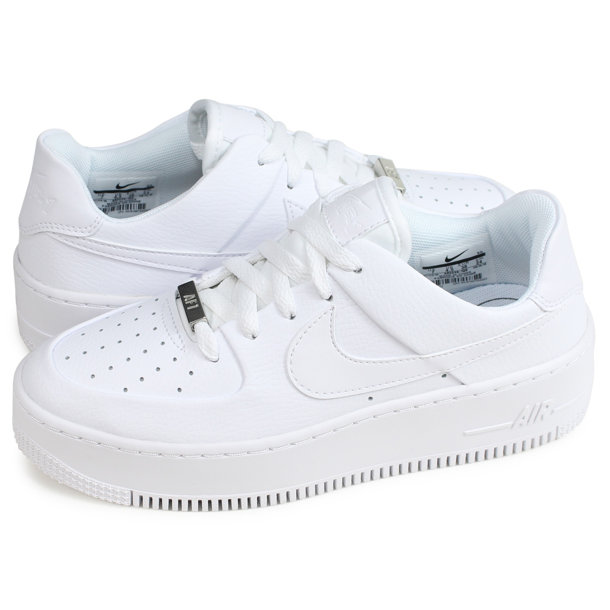 Nike NIKE air force 1 sneakers Lady's WMNS AIR FORCE 1 SAGE LOW AF1 white white AR5339 100 [110 reentry load]