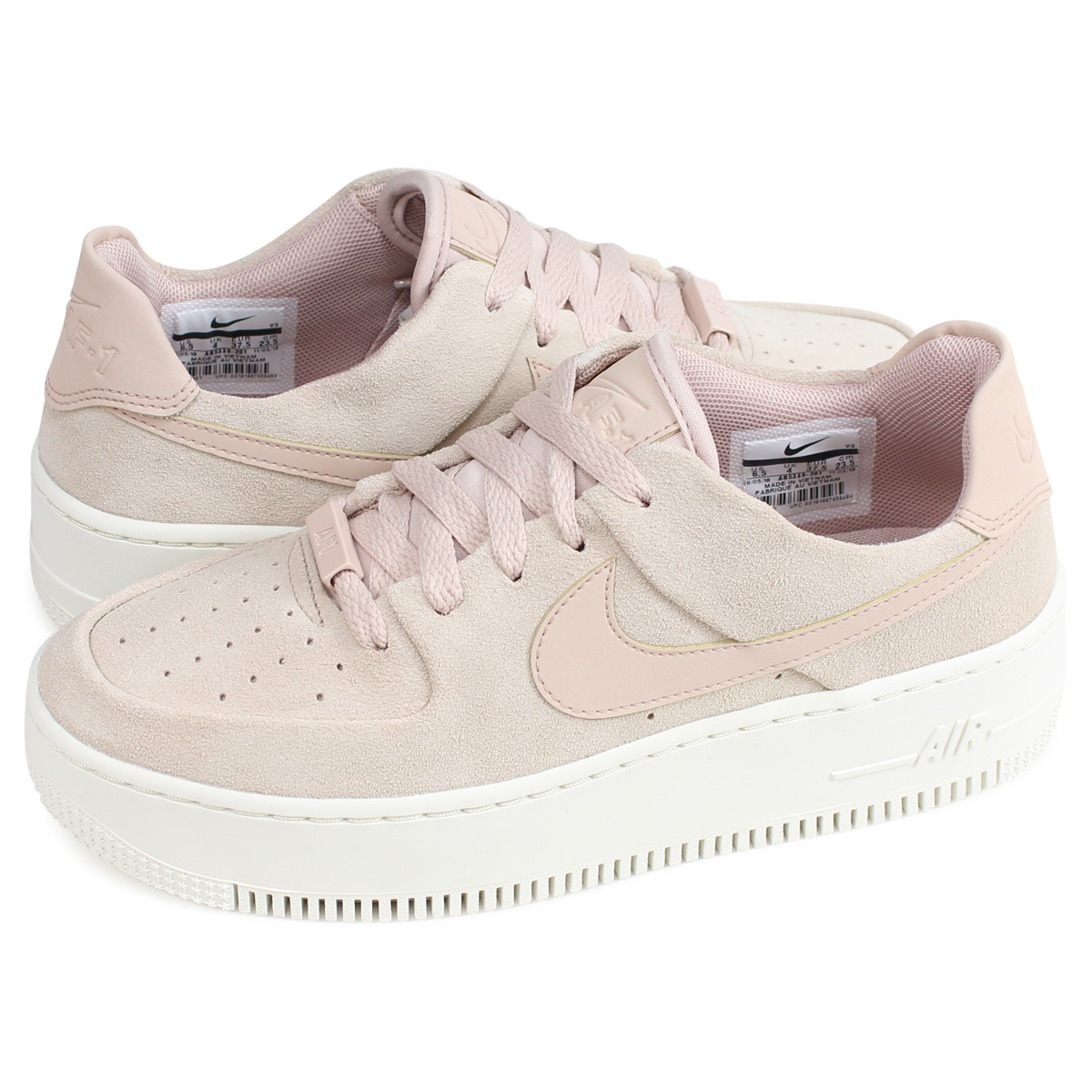 Nike NIKE air force 1 sneakers Lady's WMNS AIR FORCE 1 SAGE LOW AF1 beige AR5339 201 [load planned Shinnyu load in reservation product 214