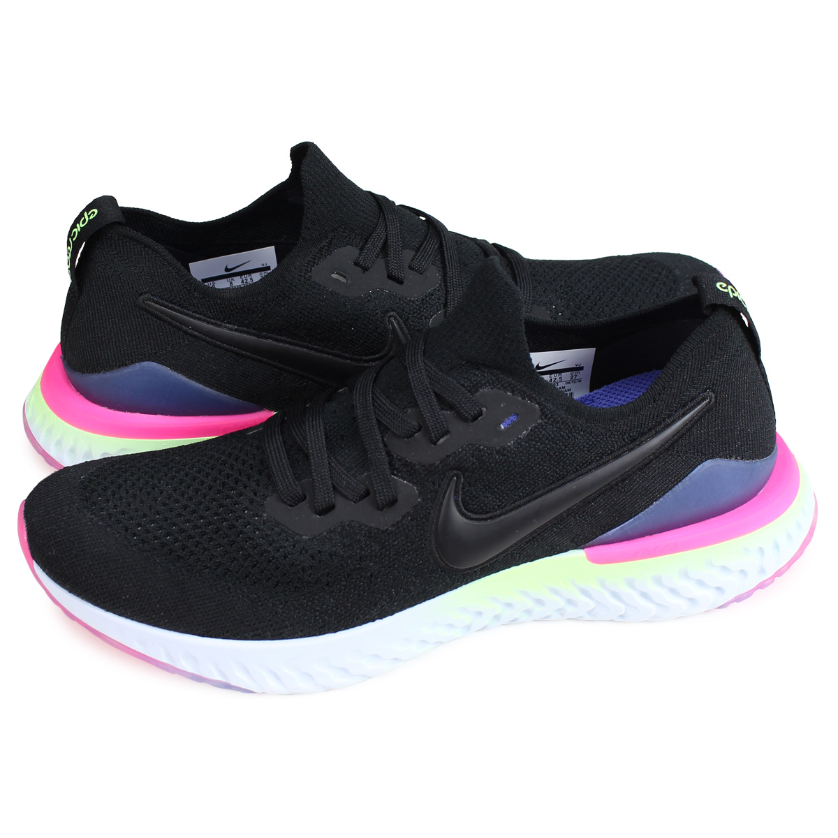 lowest price 44594 6a293 Nike NIKE epic re-act fly knit 2 sneakers men EPIC REACT FLYKNIT 2 black  BQ8928-003  load planned Shinnyu load in reservation product 2 13  containing