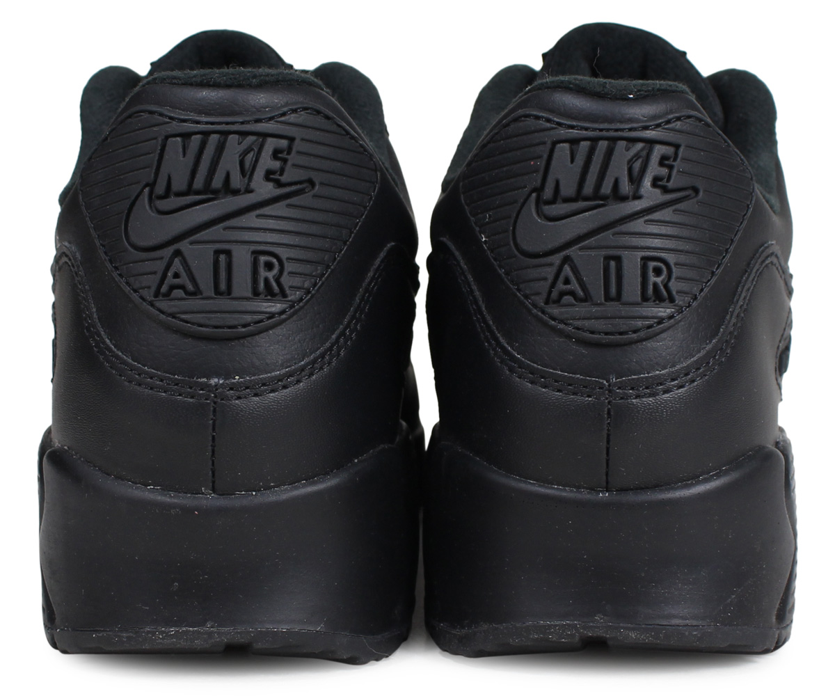 nike men's air max 90 leather shoes - black