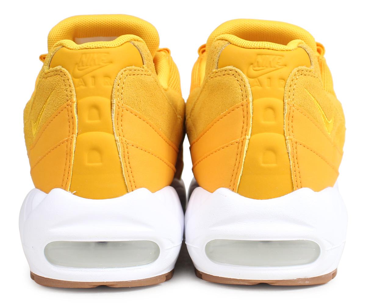 Nike NIKE Air Max 95 sneakers Lady's men WMNS AIR MAX 95 PREMIUM yellow 807,443 701