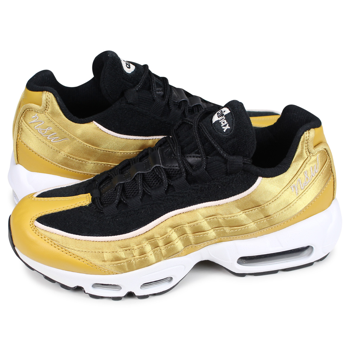 72c7d52c00 Nike NIKE Air Max 95 sneakers Lady's men WMNS AIR MAX 95 LX gold AA1103- ...
