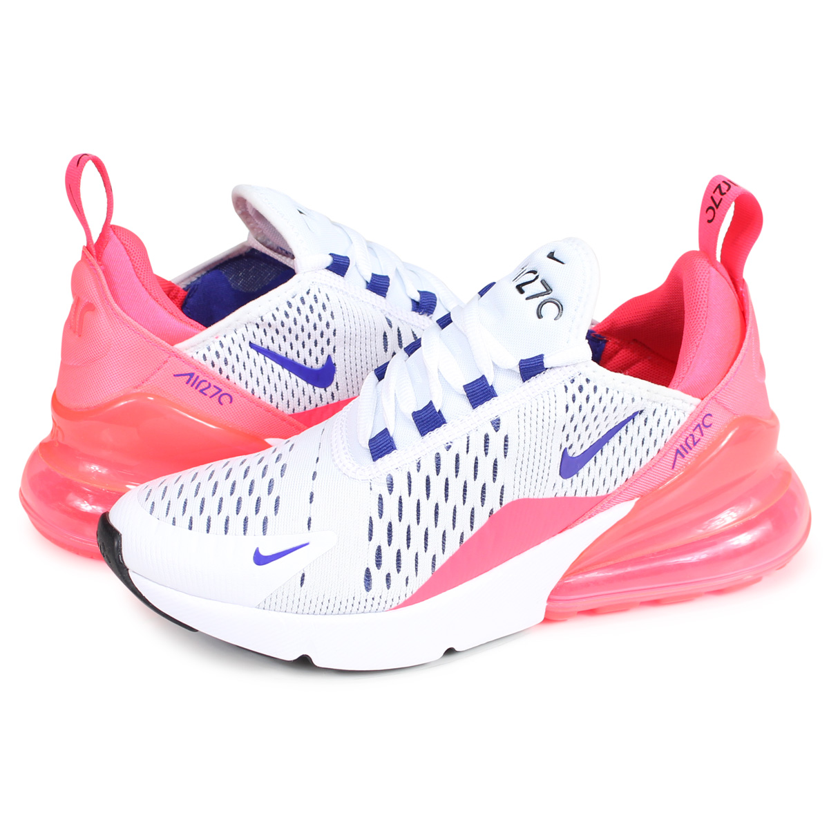 Nike NIKE Air Max 270 sneakers Lady's WMNS AIR MAX 270 white AH6789 101 [load planned Shinnyu load in reservation product 221 containing]