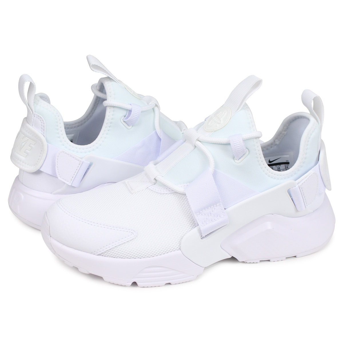 9dcde1c079331 Nike NIKE エアハラチシティスニーカーレディース WMNS AIR HUARACHE CITY LOW white white AH6804- 100  load planned Shinnyu load in reservation product 5 8 ...