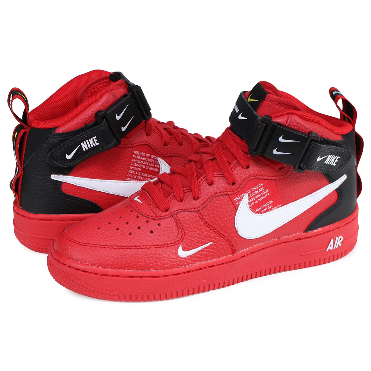 d66dffb50f Nike NIKE air force 1 sneakers Lady's AIR FORCE 1 MID LV8 GS red AV3803-