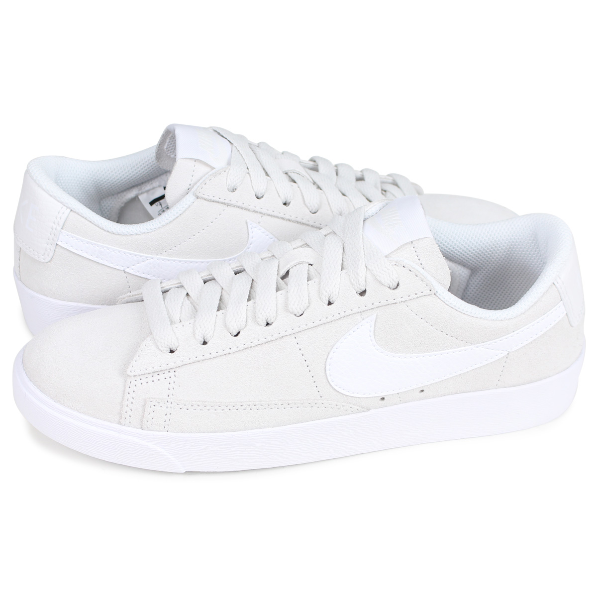 new styles b454a 32daa Nike NIKE blazer low sneakers Lady's WMNS BLAZER LOW SD light gray  AV9373-003