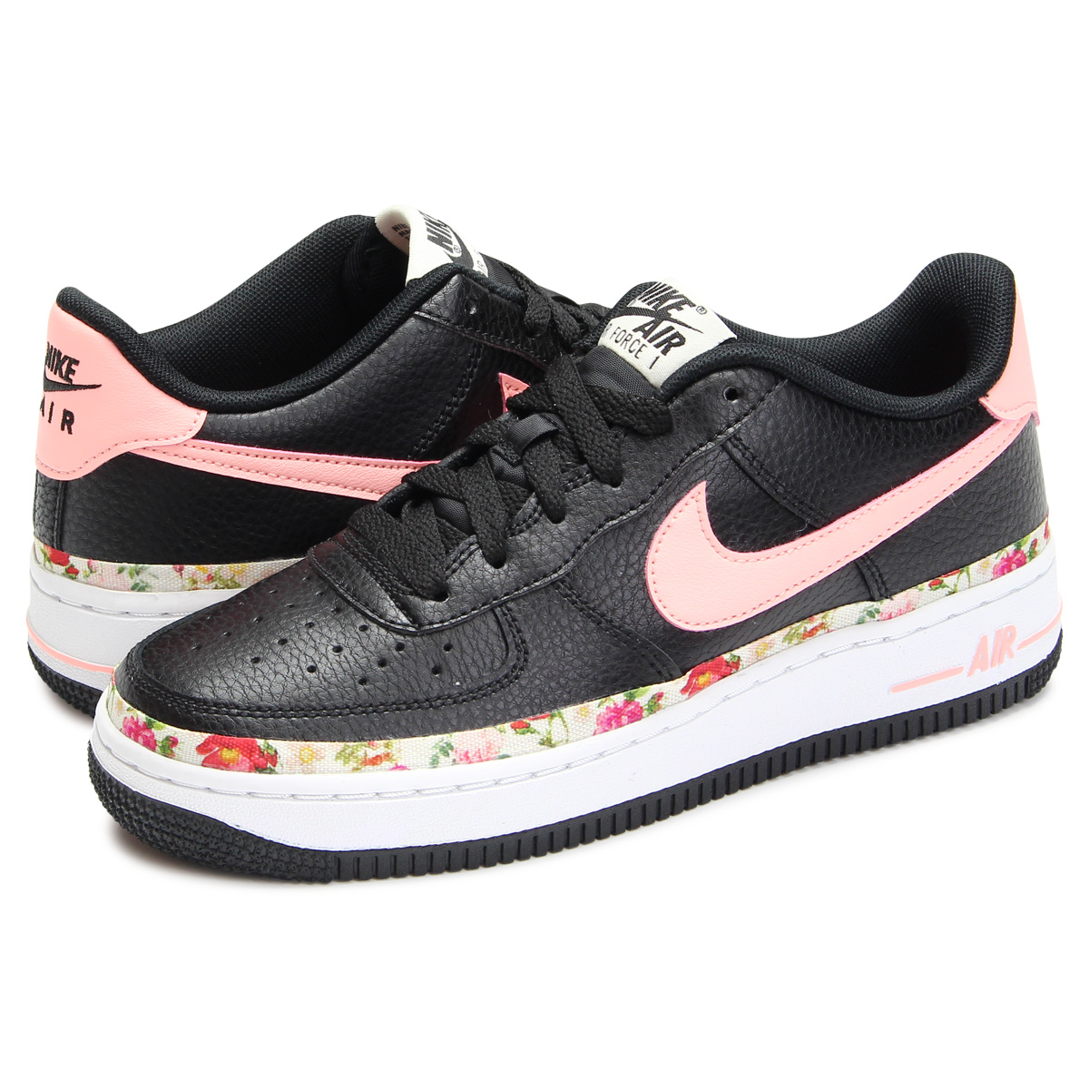 Nike NIKE air force 1 sneakers Lady's AIR FORCE 1 V.F. GS black black BQ2501 001