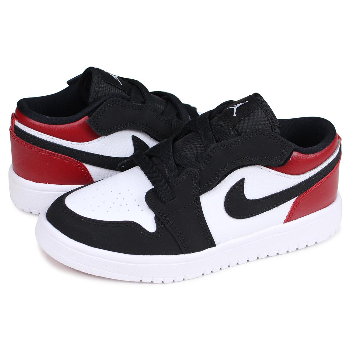 NIKE Nike Air Jordan 1 sneakers kids AIR JORDAN 1 LOW ALT PS BLACK TOE つま black white white BQ6066 116