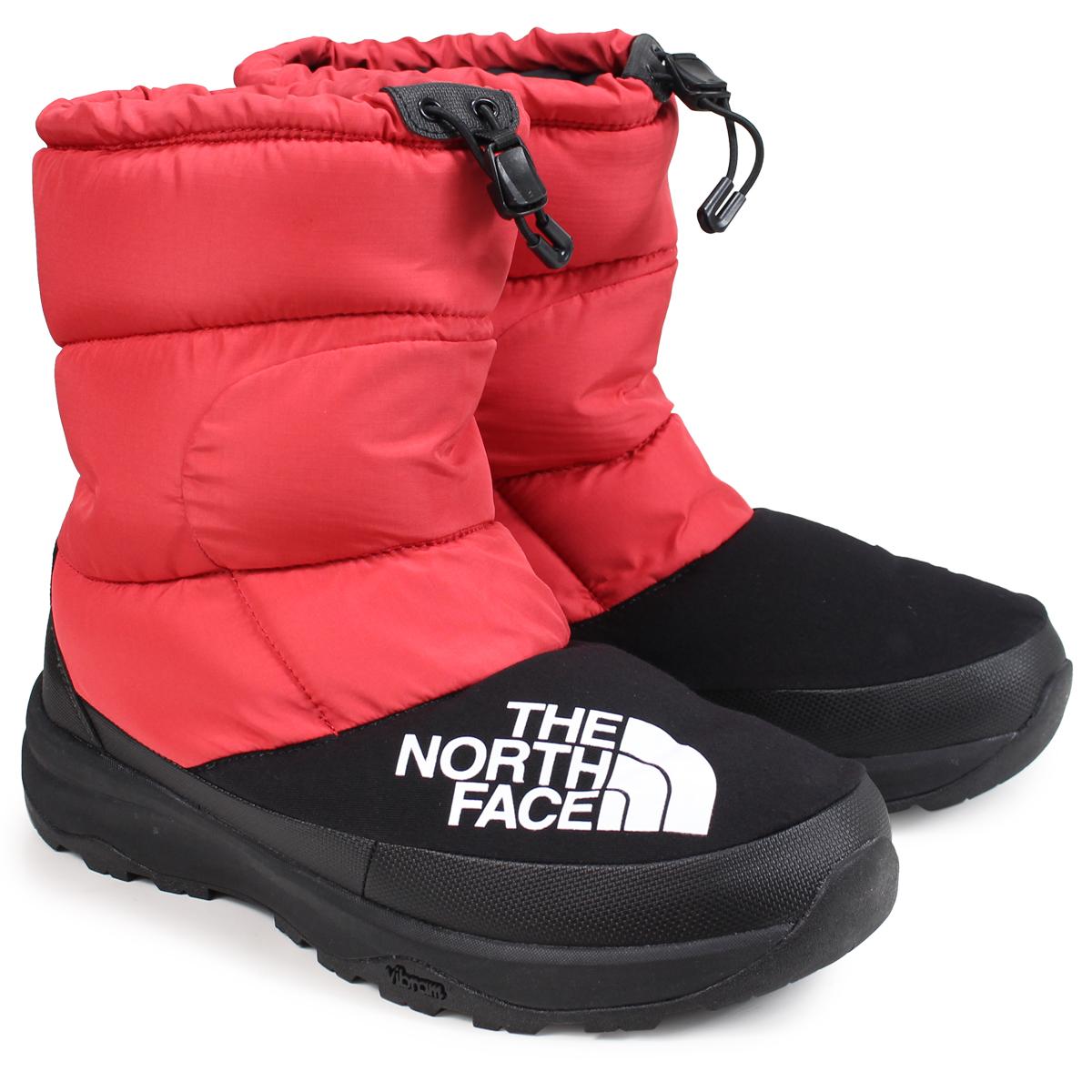 THE NORTH FACE NUPTSE DOWN BOOTIE ノースフェイス ヌプシダウンブーティ ブーツ メンズ レディース レッド NF51877