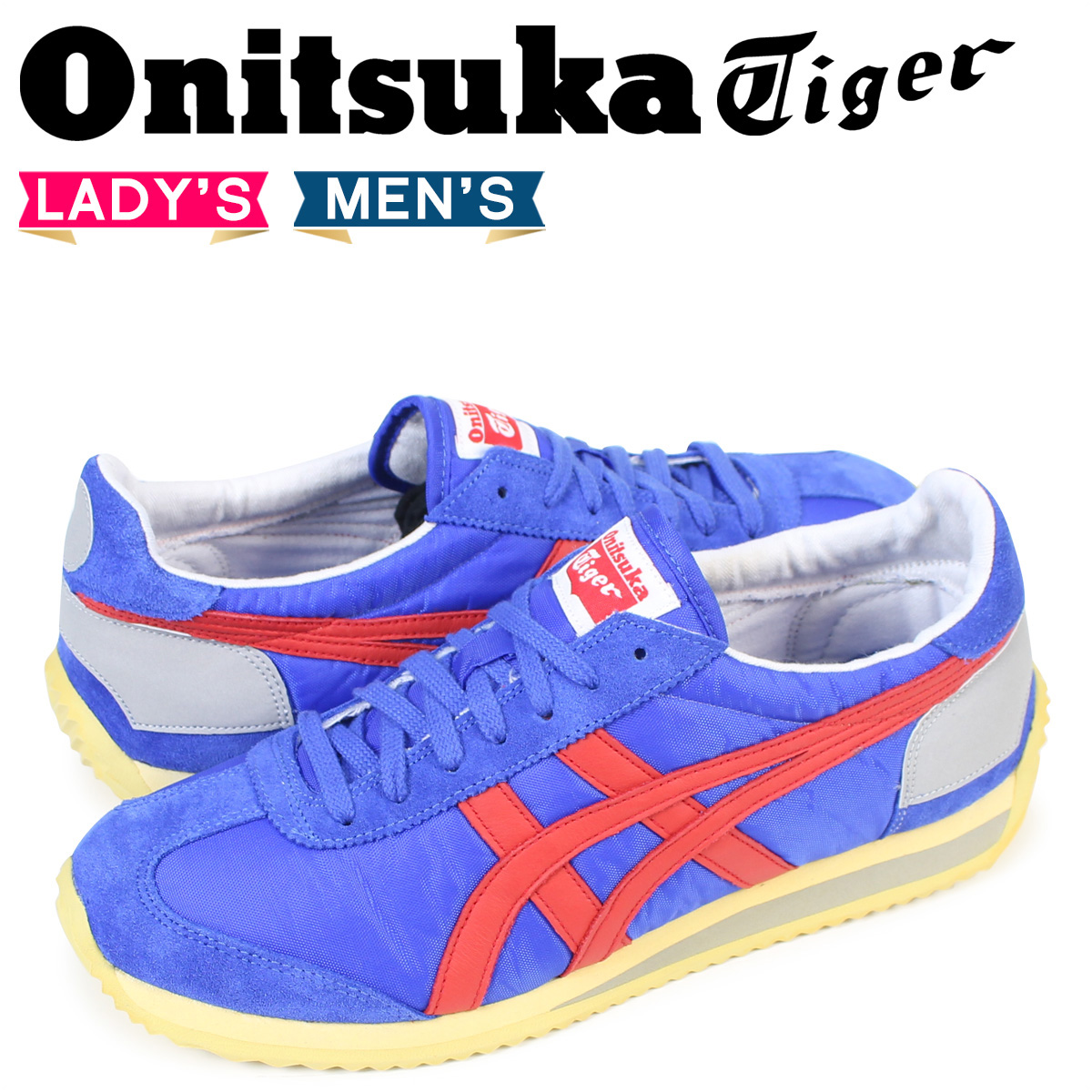 pretty nice 2efe5 e57aa Onitsuka tiger California Onitsuka Tiger asics Lady's men sneakers ASICS  CALIFORNIA 78 VIN D110N-4623 shoes blue [load planned Shinnyu load in ...