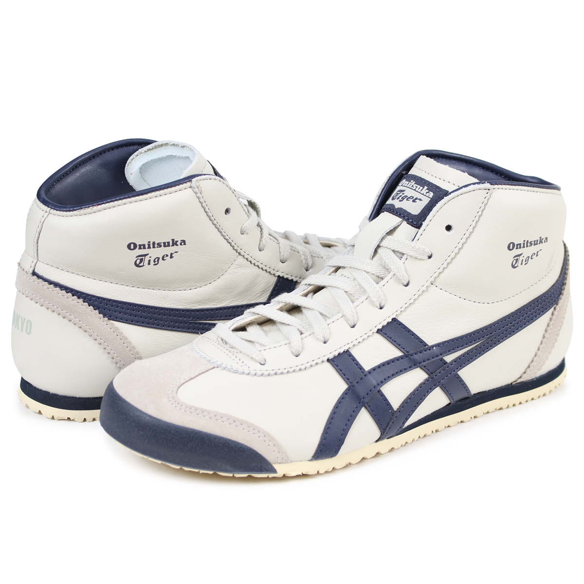 buy popular f05db b3886 Onitsuka Tiger MEXICO MID RUNNER Onitsuka tiger Mexico mid runner men  sneakers DL328-1659 THL328-1659 white