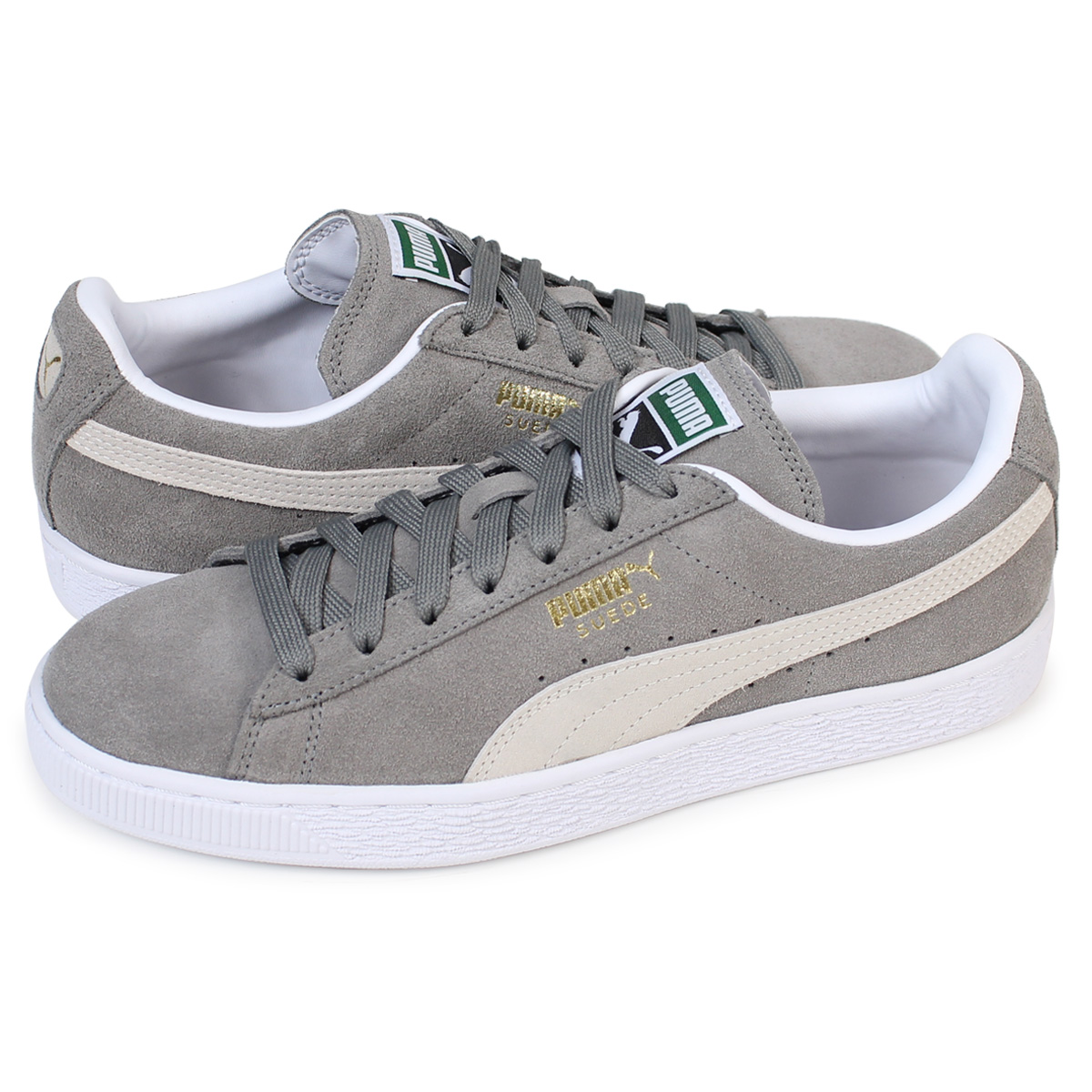 new concept a8ac7 64f11 PUMA SUEDE CLASSIC + Puma suede classical music sneakers 352,634-66 men's  lady's shoes gray [load planned Shinnyu load in reservation product 12/14  ...