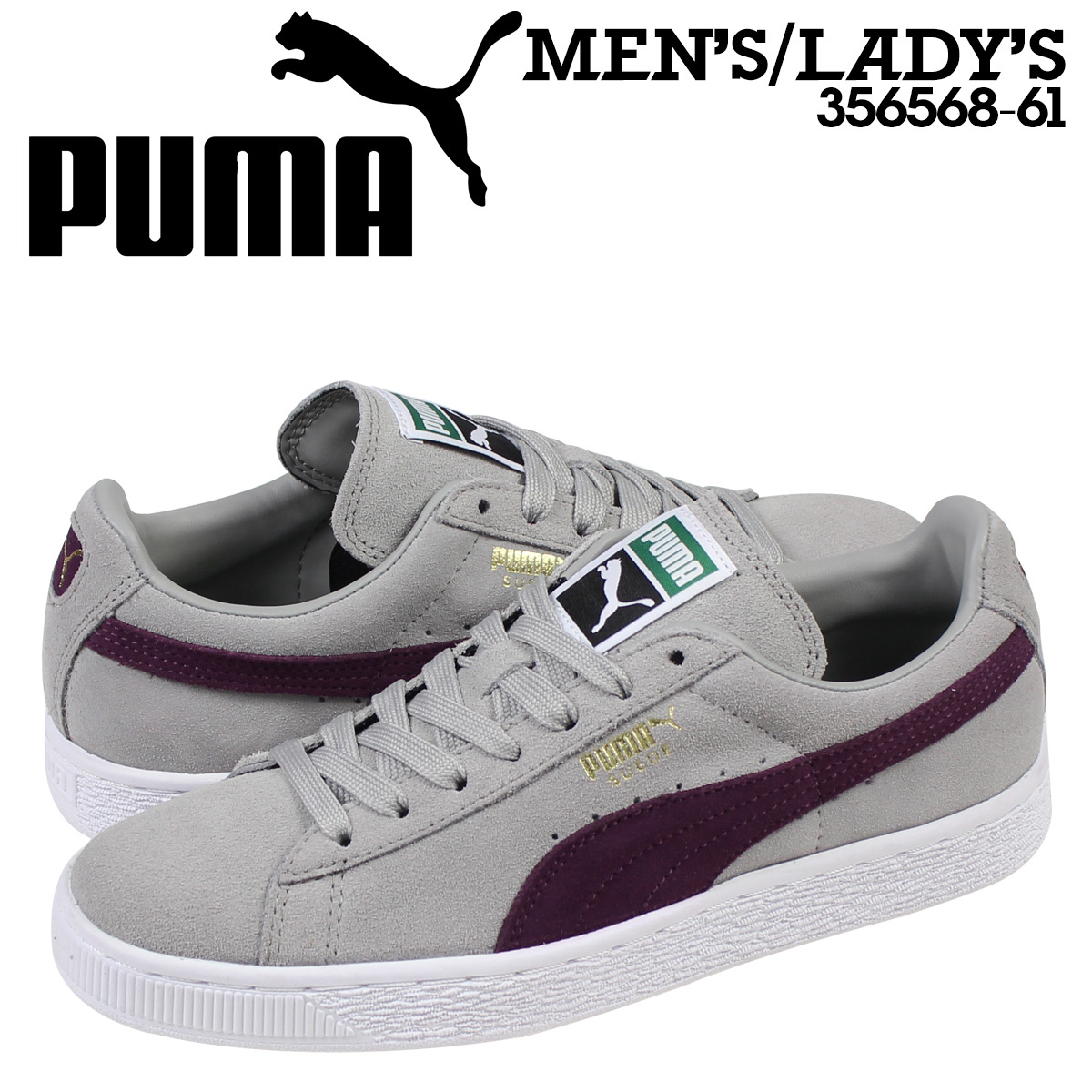 big sale 0876f 9c0aa PUMA Puma suede classical music sneakers SUEDE CLASSIC + 356,568-61 men's  lady's shoes gray
