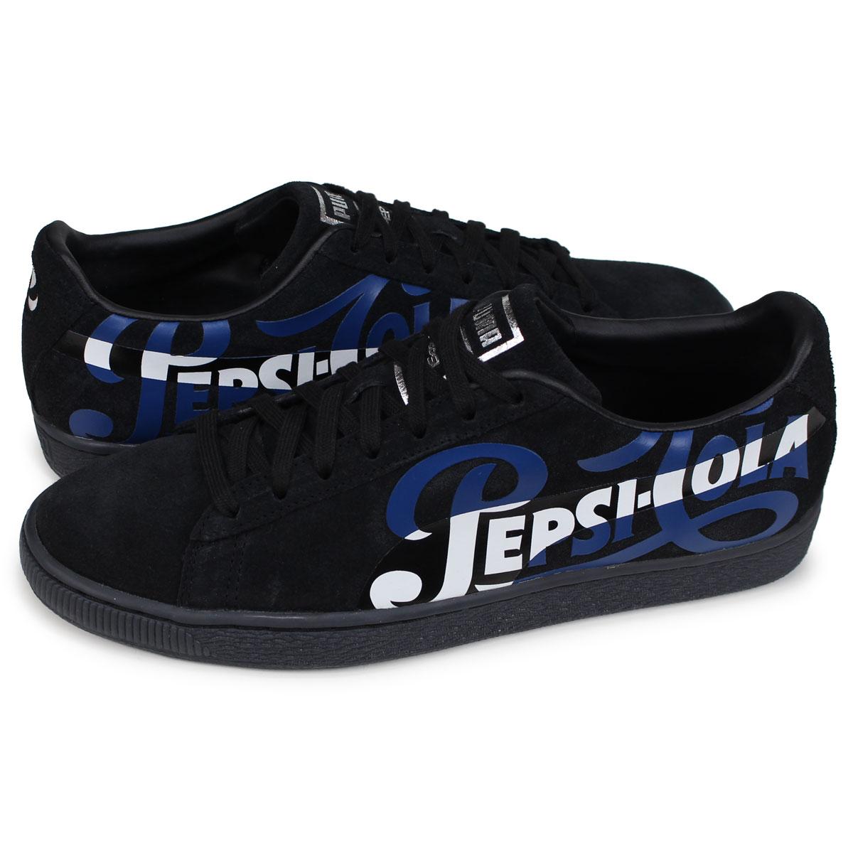 size 40 89ba9 690a3 PUMA SUEDE CLASSIC Puma suede cloth classical music sneakers men PepsiCo  laboratory PEPSI black 366,332-02