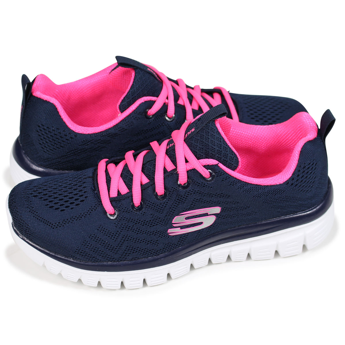 41a2687005d0 SKECHERS GRACEFUL GET CONNECTED スケッチャーズグレースフルレディーススニーカー 12615 navy  load  planned Shinnyu load in reservation product 5 11 containing