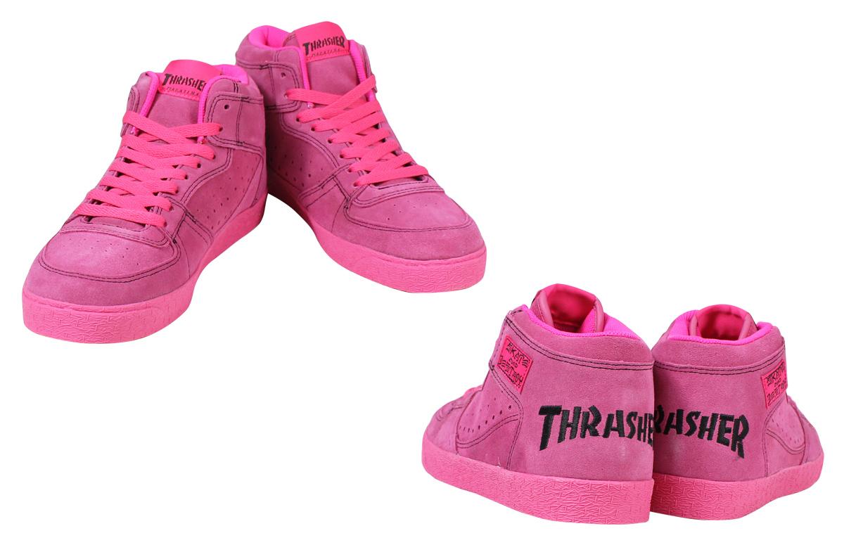 THRASHER surasshabukyanandoggusunika BUCHANAN DOG TS-160-002人分歧D鞋粉紅
