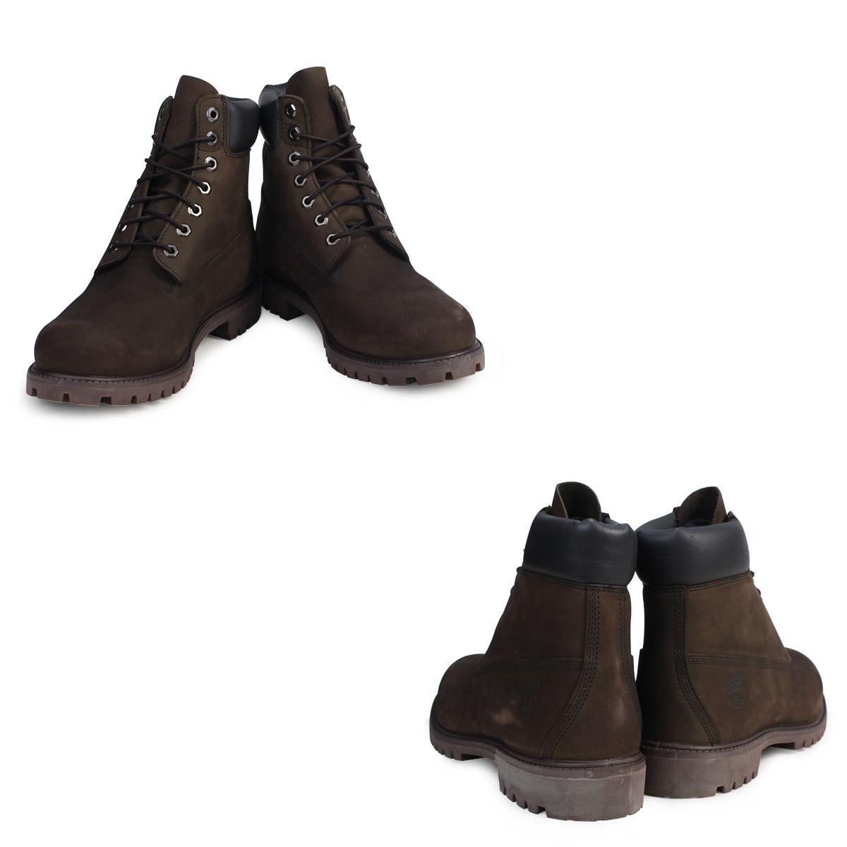 6 inches of Timberland 6INCH PREMIUM WATERPROOF BOOTS Timberland boots men premium waterproof nubuck waterproofing 10001 dark chocolate