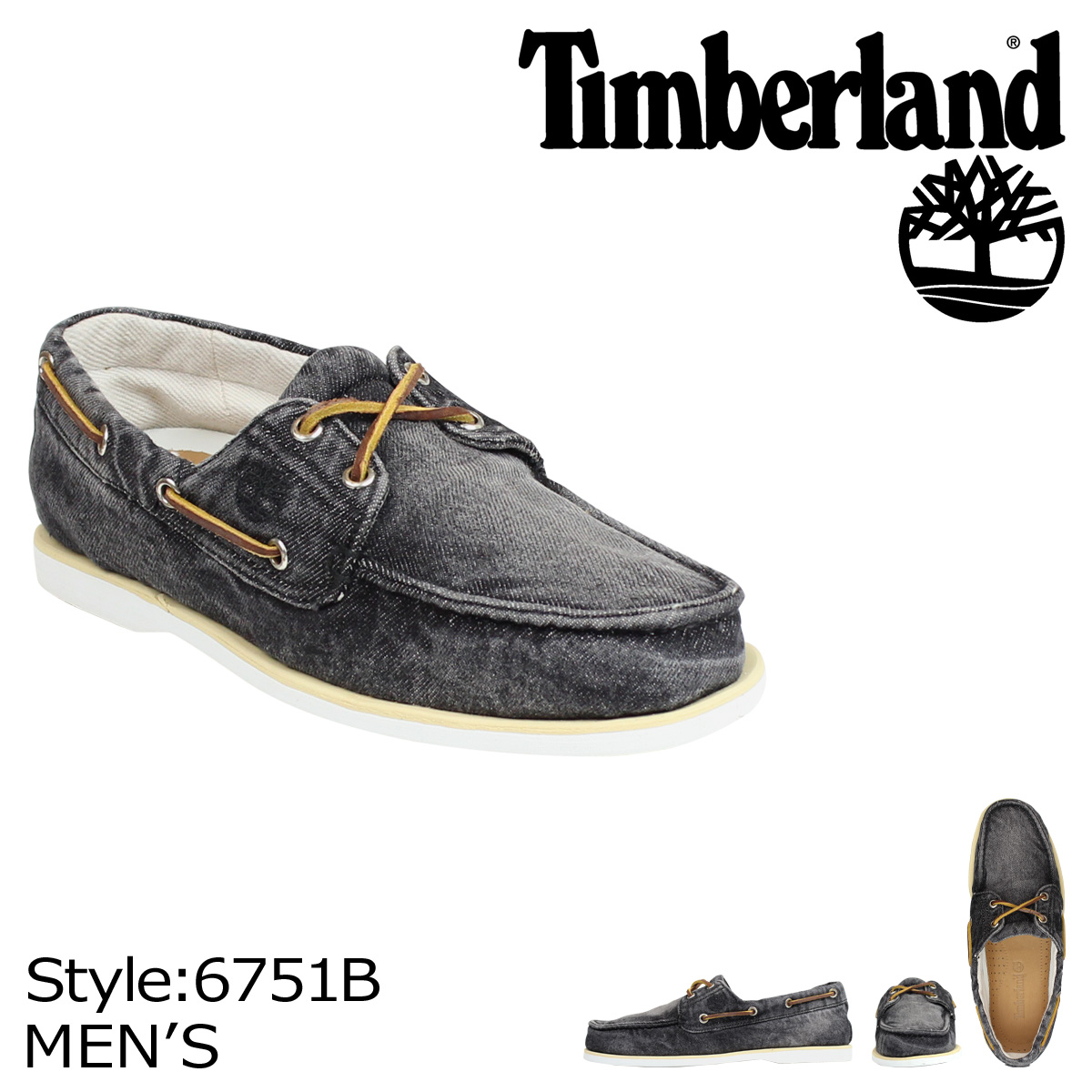 Whats up Sports  Timberland Timberland ICON CLASSIC 2 EYE DENIM deck shoes  icon classic Hall 2 denim 6751B black mens  5934aaa0fcd1