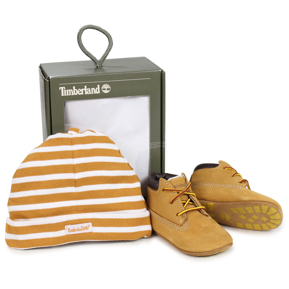 38c7e43300d12 Timberland INFANT CRIB BOOTIES CAP SET Timberland boots shoes cap hat knit  hat セットキッズベビー