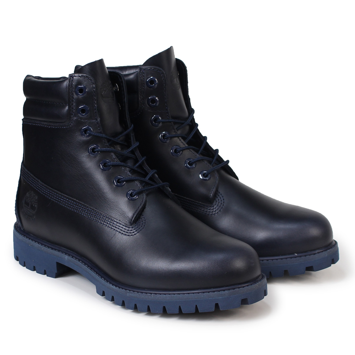 6 inches of Timberland 6INCH DOUBLE COLLAR BOOT Timberland boots men A1HCJ W Wise waterproofing navies [925 Shinnyu load]