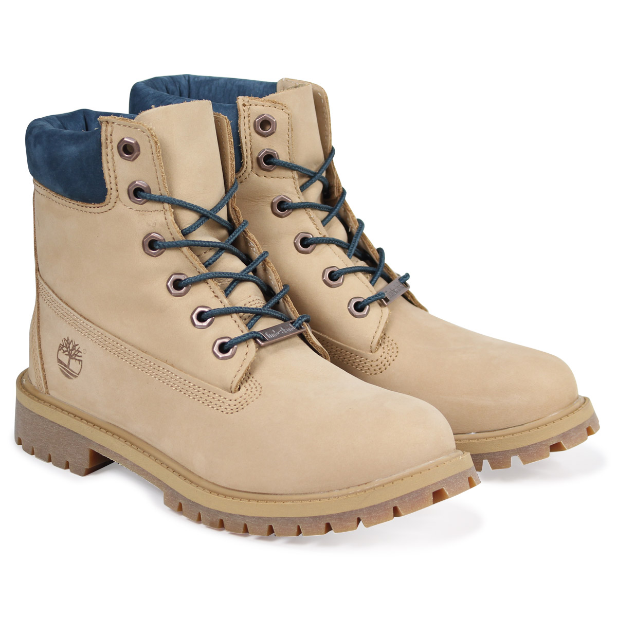 Timberland JUNIOR 6INCH WATERPROOF BOOT Timberland Lady's boots 6 inches kids A1PLO W Wise waterproofing beige [load planned Shinnyu load in